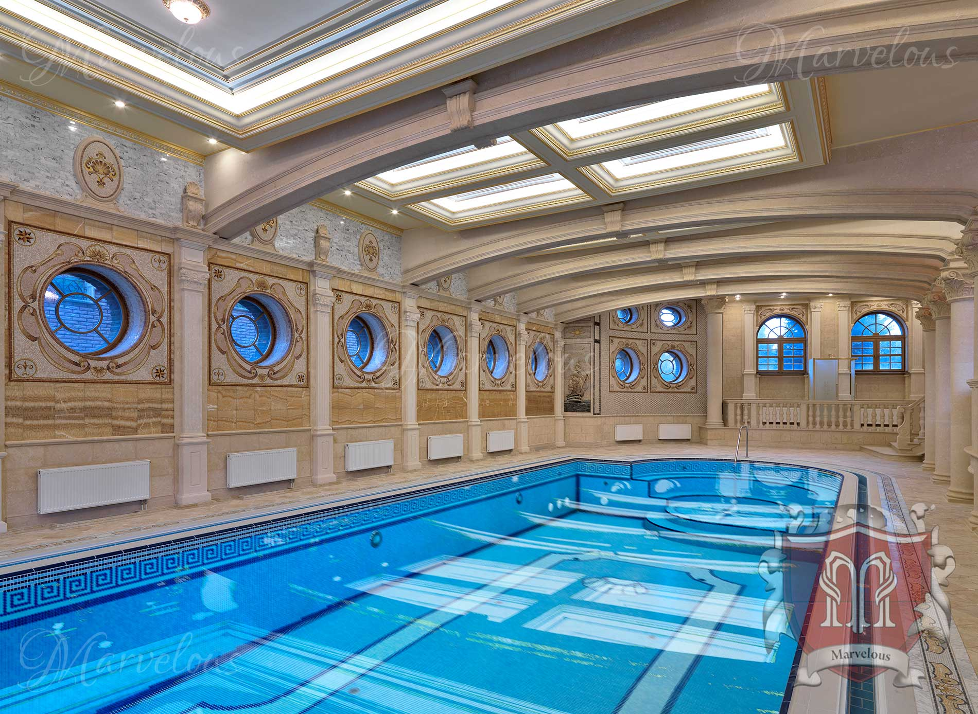 Marble Pool Mosaic Sirena