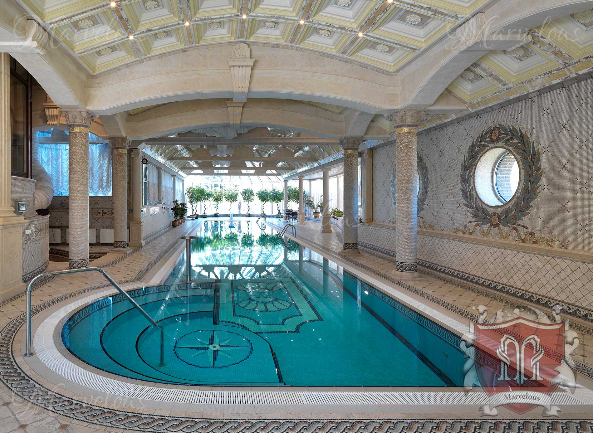 Marble Pool Mosaic: Sirena