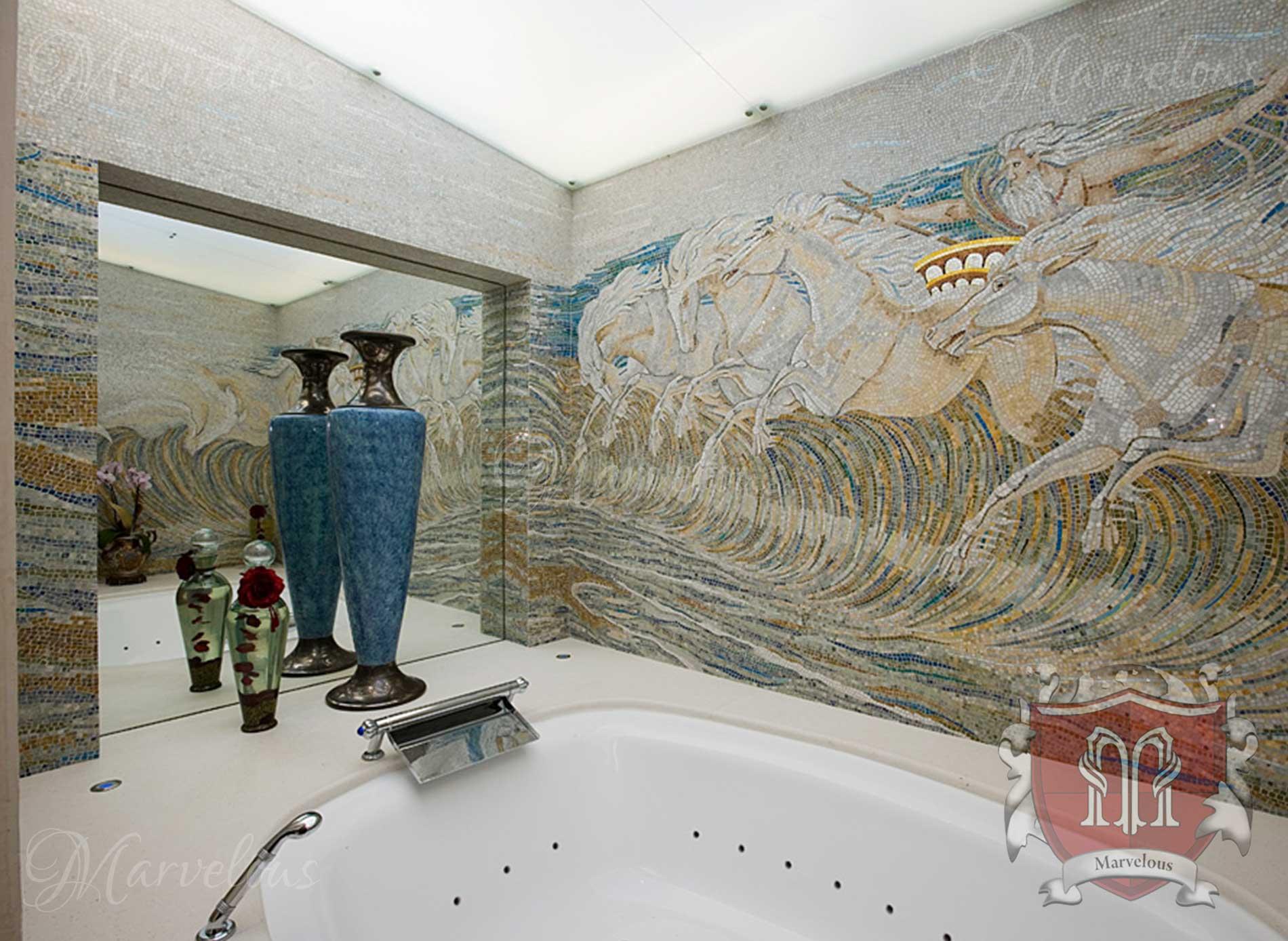 Marble Wall Mosaic: Cabaletta