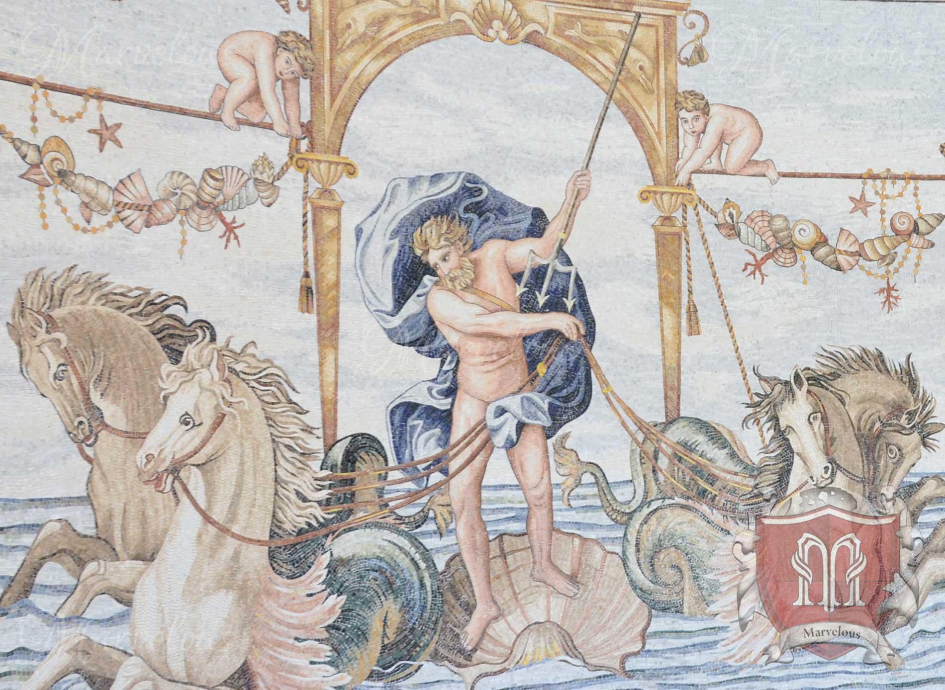 Marble Wall Mosaic: Domus Eterno