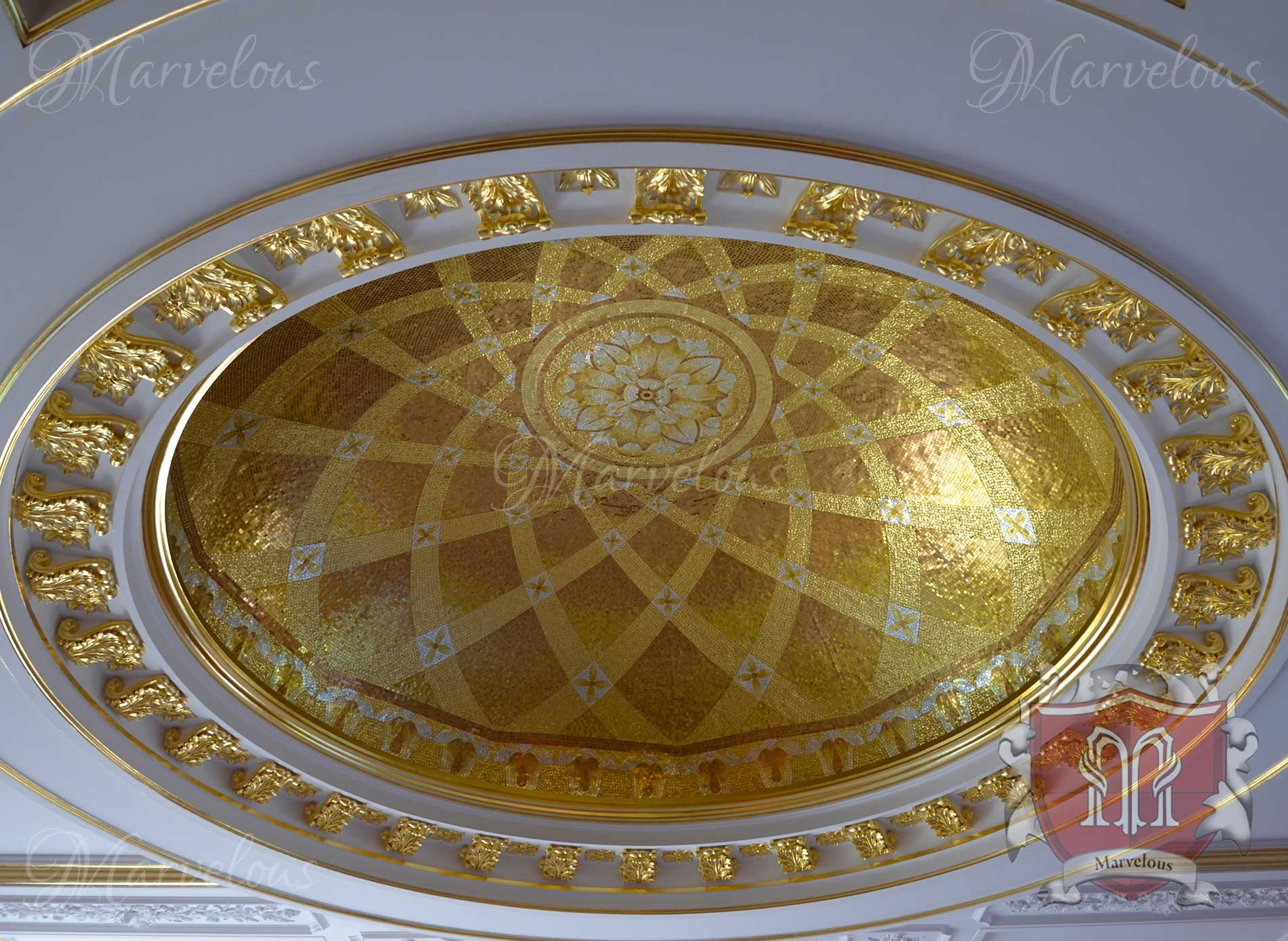 Marble Wall Mosaic: Oculus