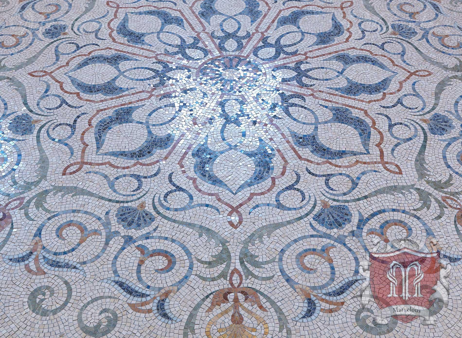 Marble Floor Mosaic: Capriccio