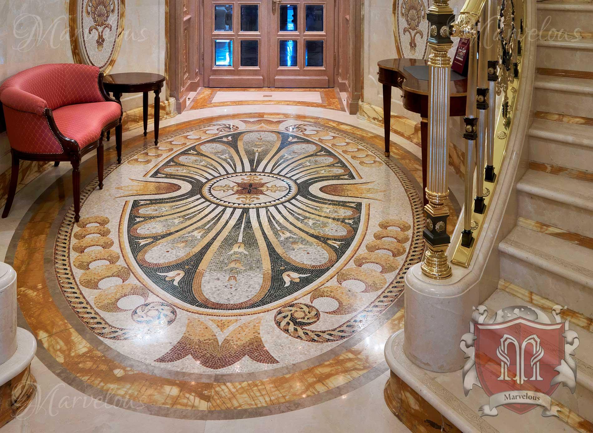 Marble Floor Mosaic: Cavatina