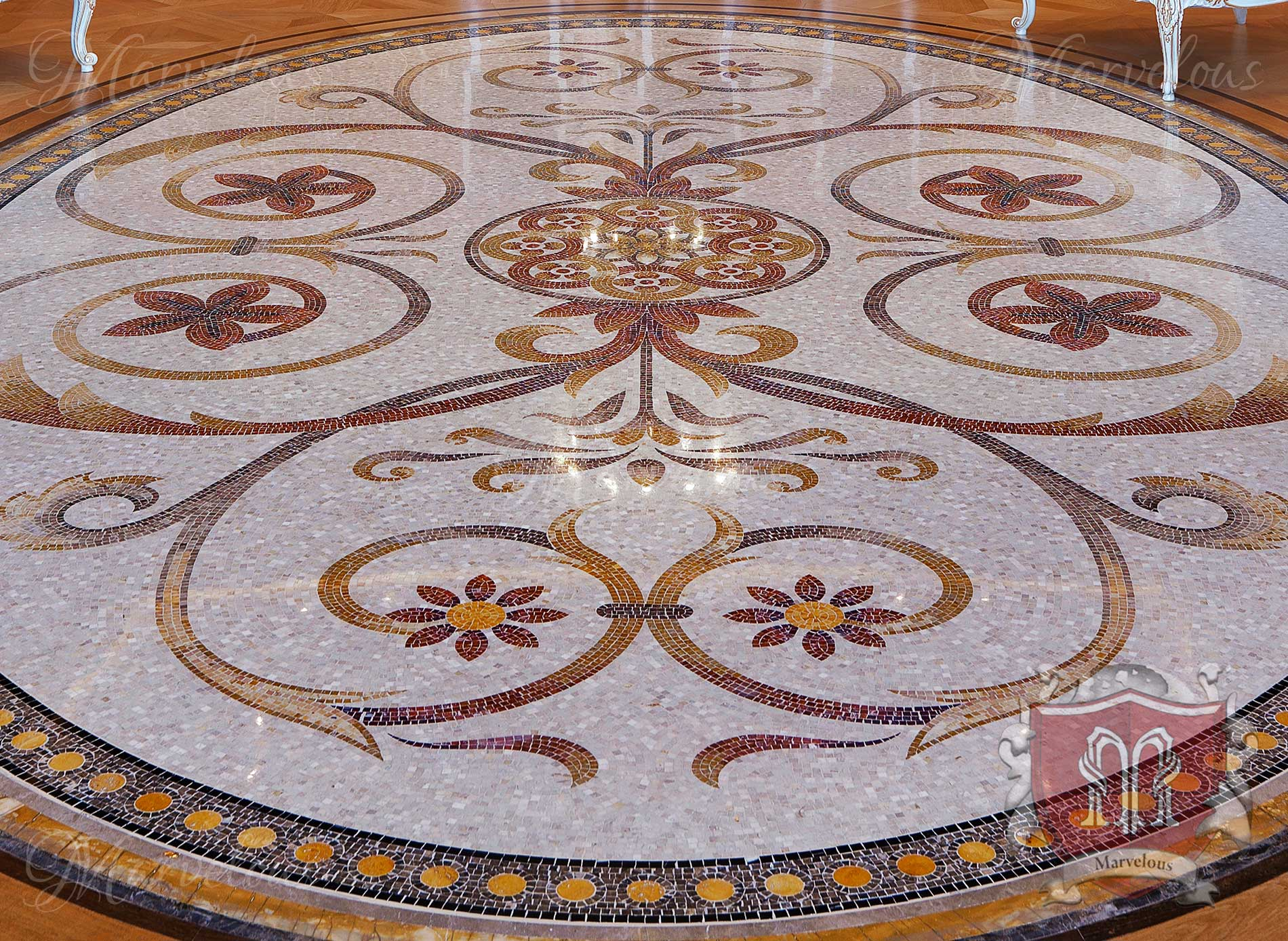 Marble Floor Mosaic: Piano Nobile