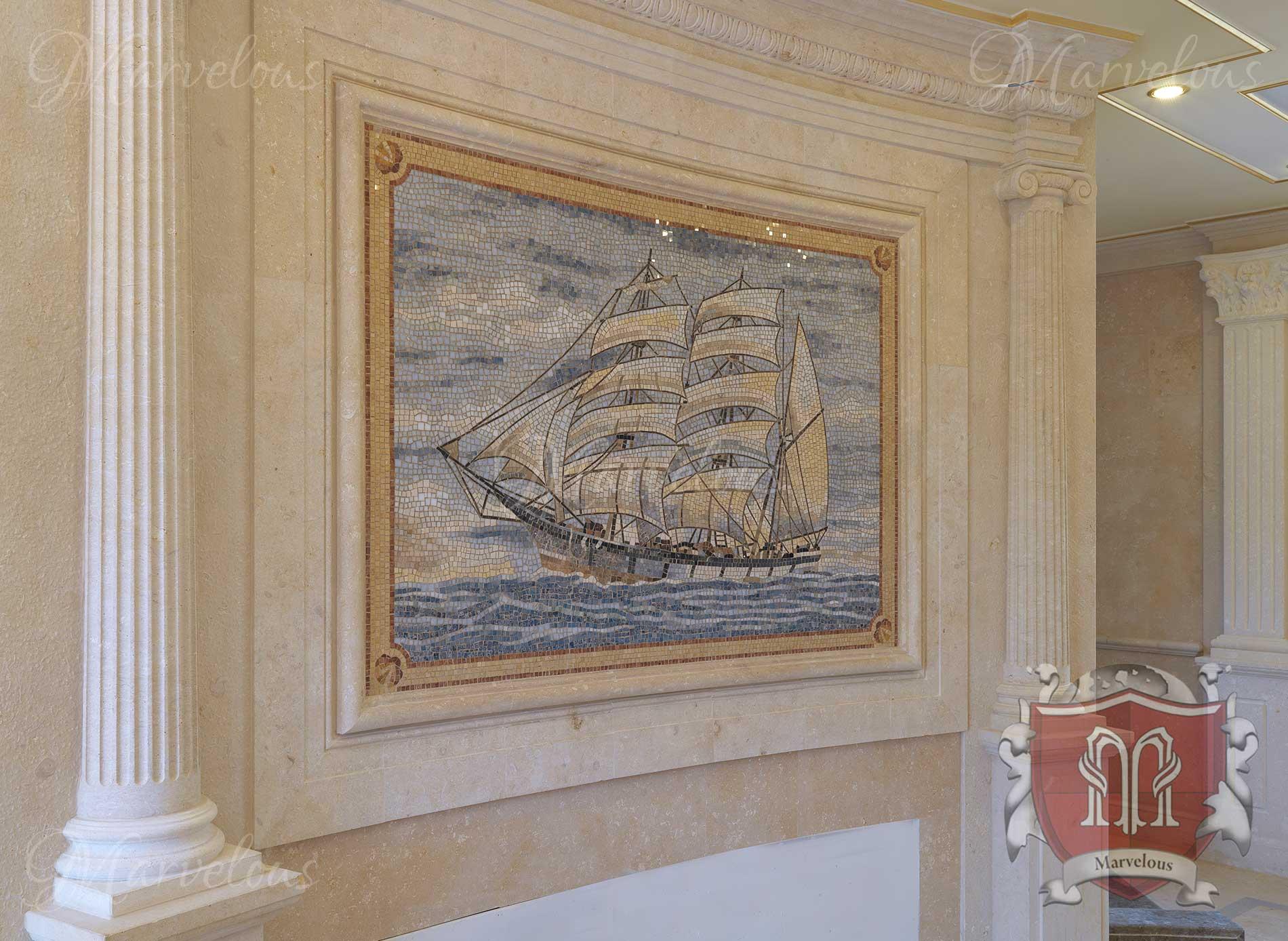 Marble Wall Mosaic: Mozzafiato