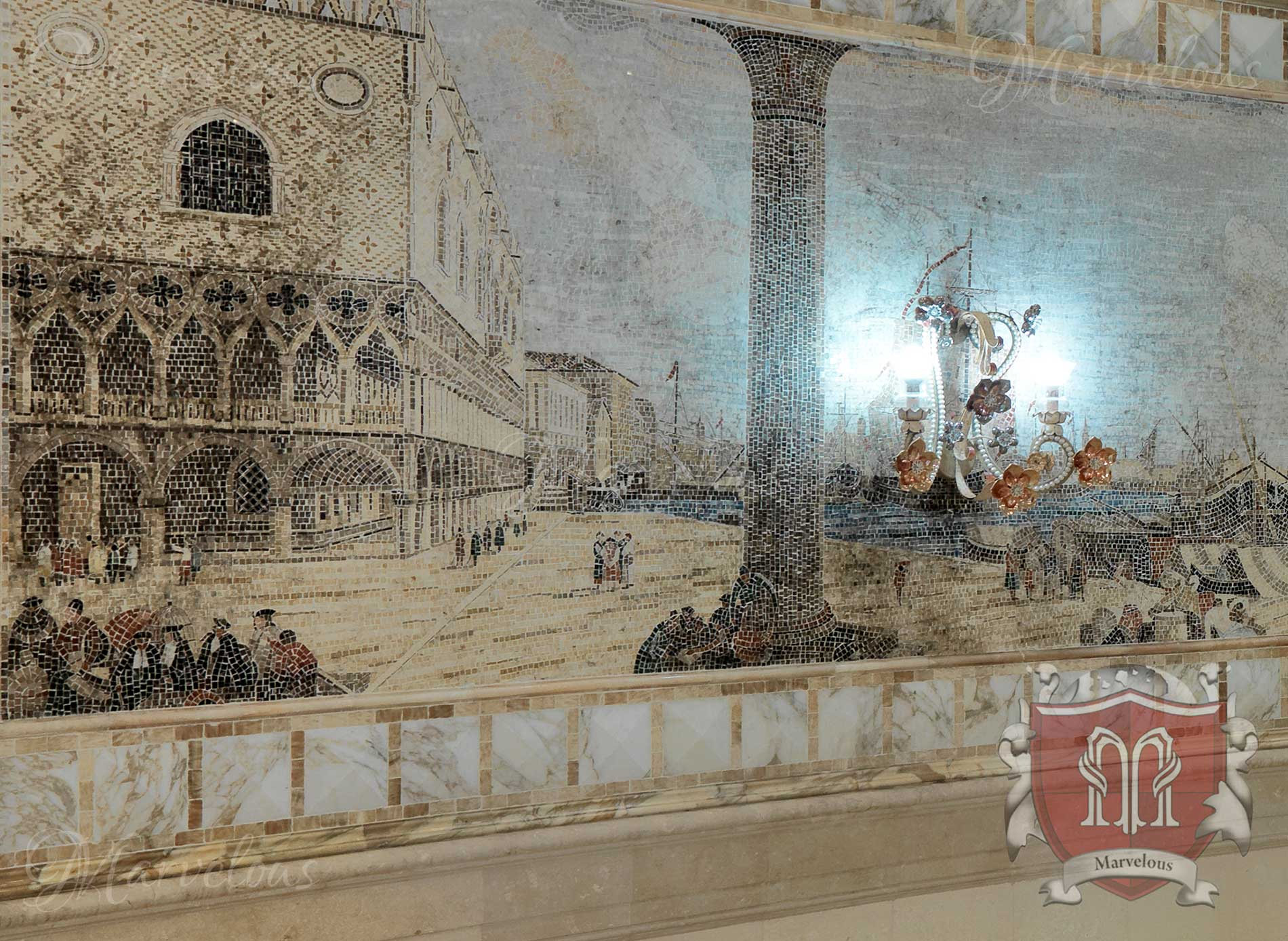 Marble Wall Mosaic: Oratorio