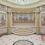 Marble Wall Mosaic: Specchio Grosso