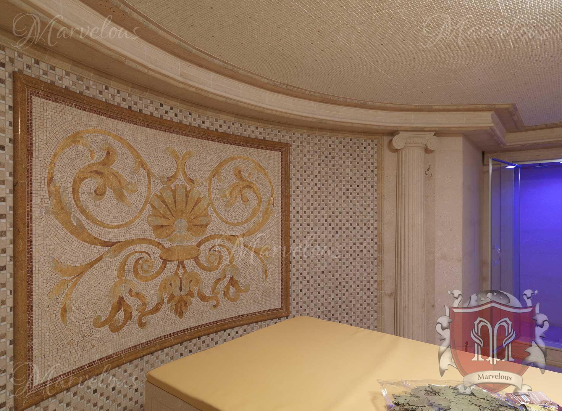 Marble Wall Mosaic: Sonata