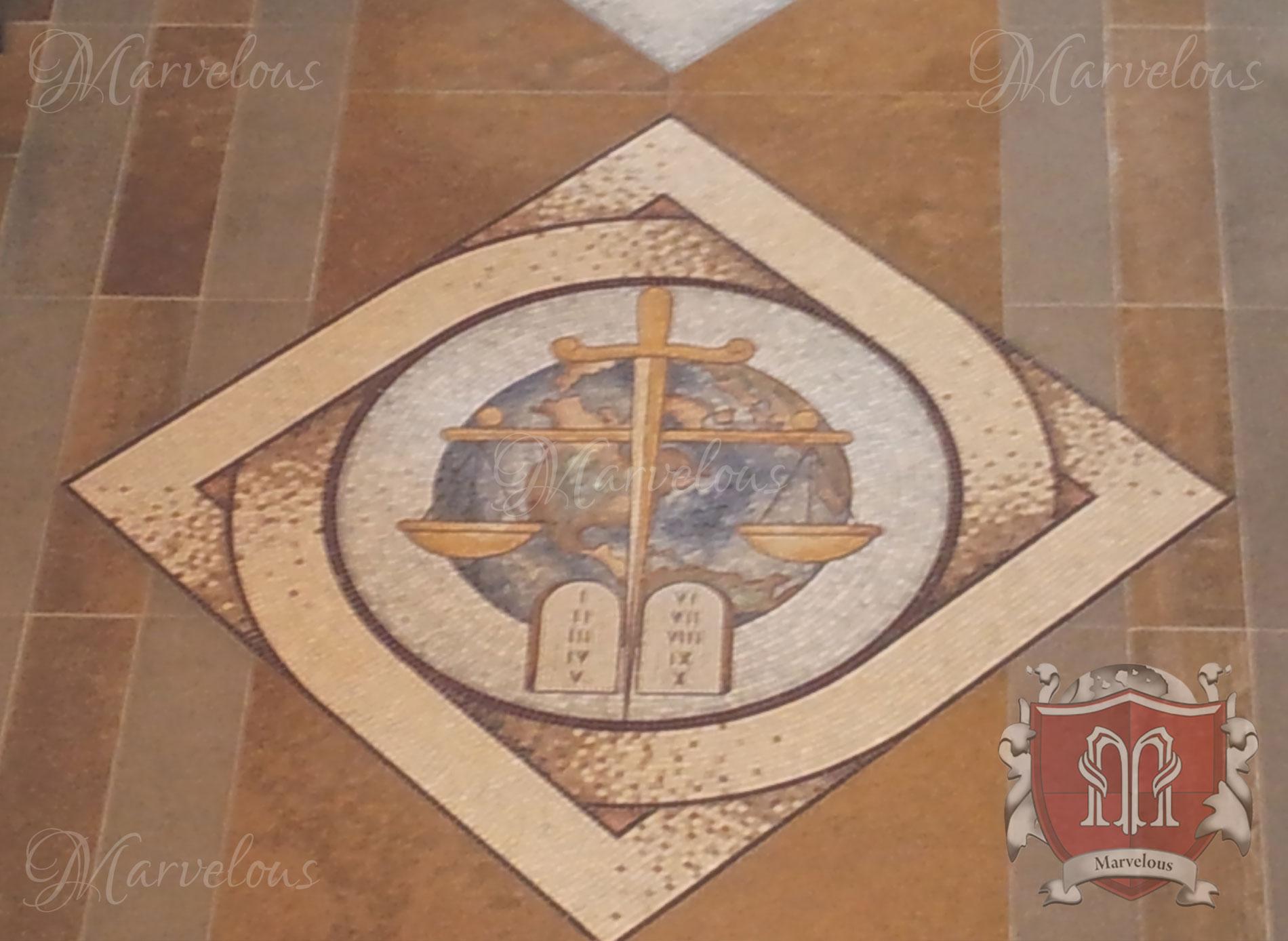 Marble Religious Mosaic: Gemma Nel Deserto