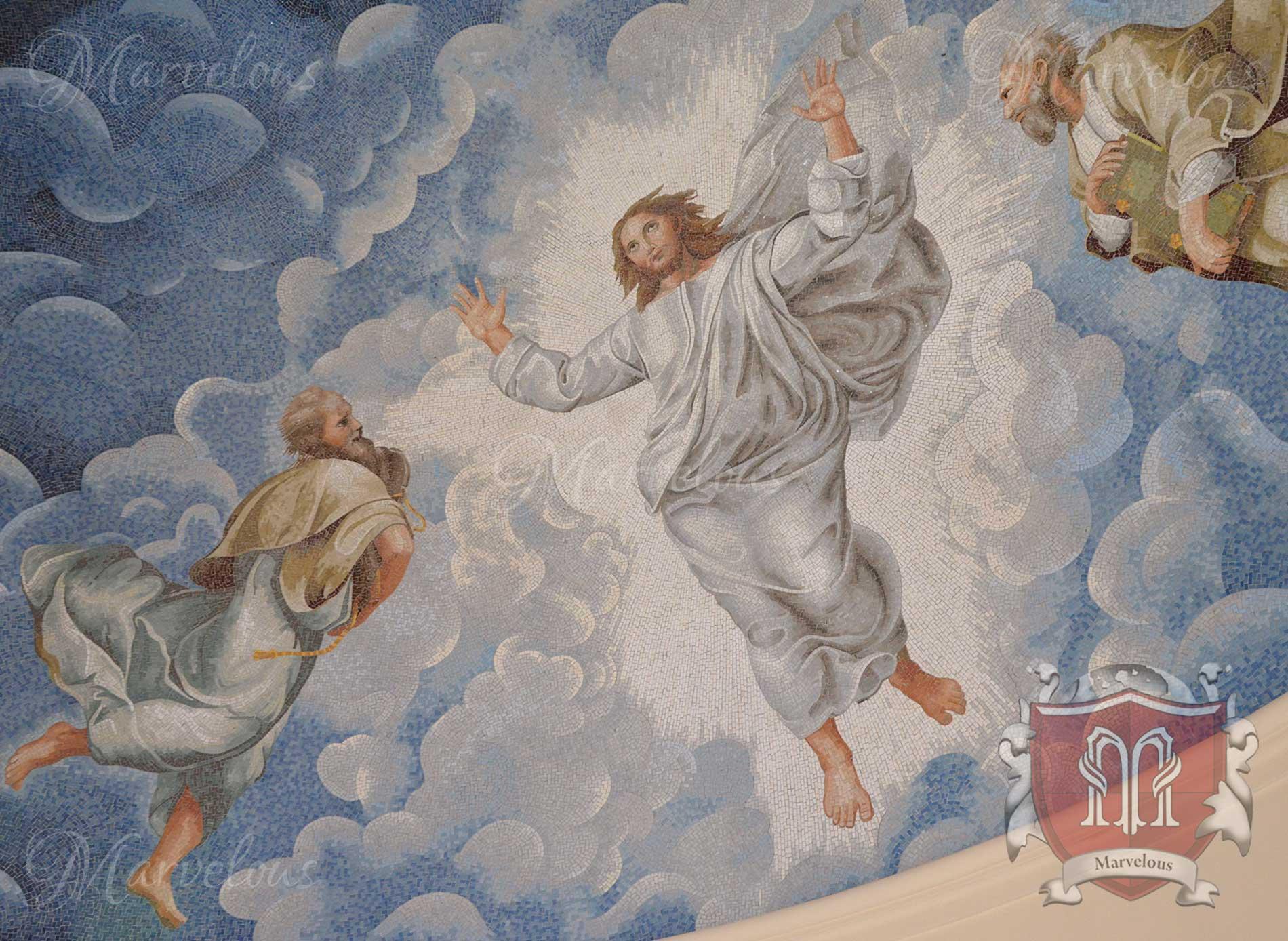 Marble Religious Mosaic: Risurrezione