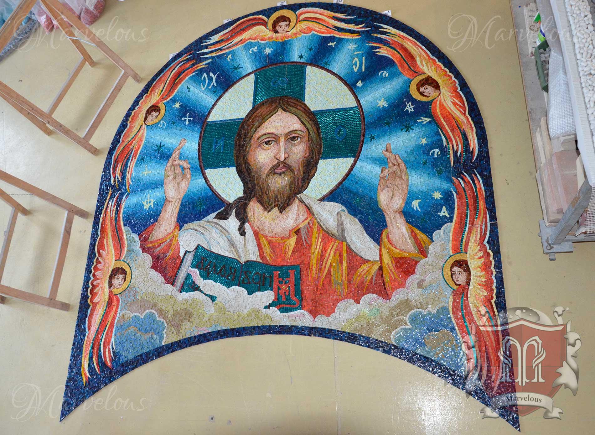 Marble Religious Mosaic: Sonata Da Chiesa