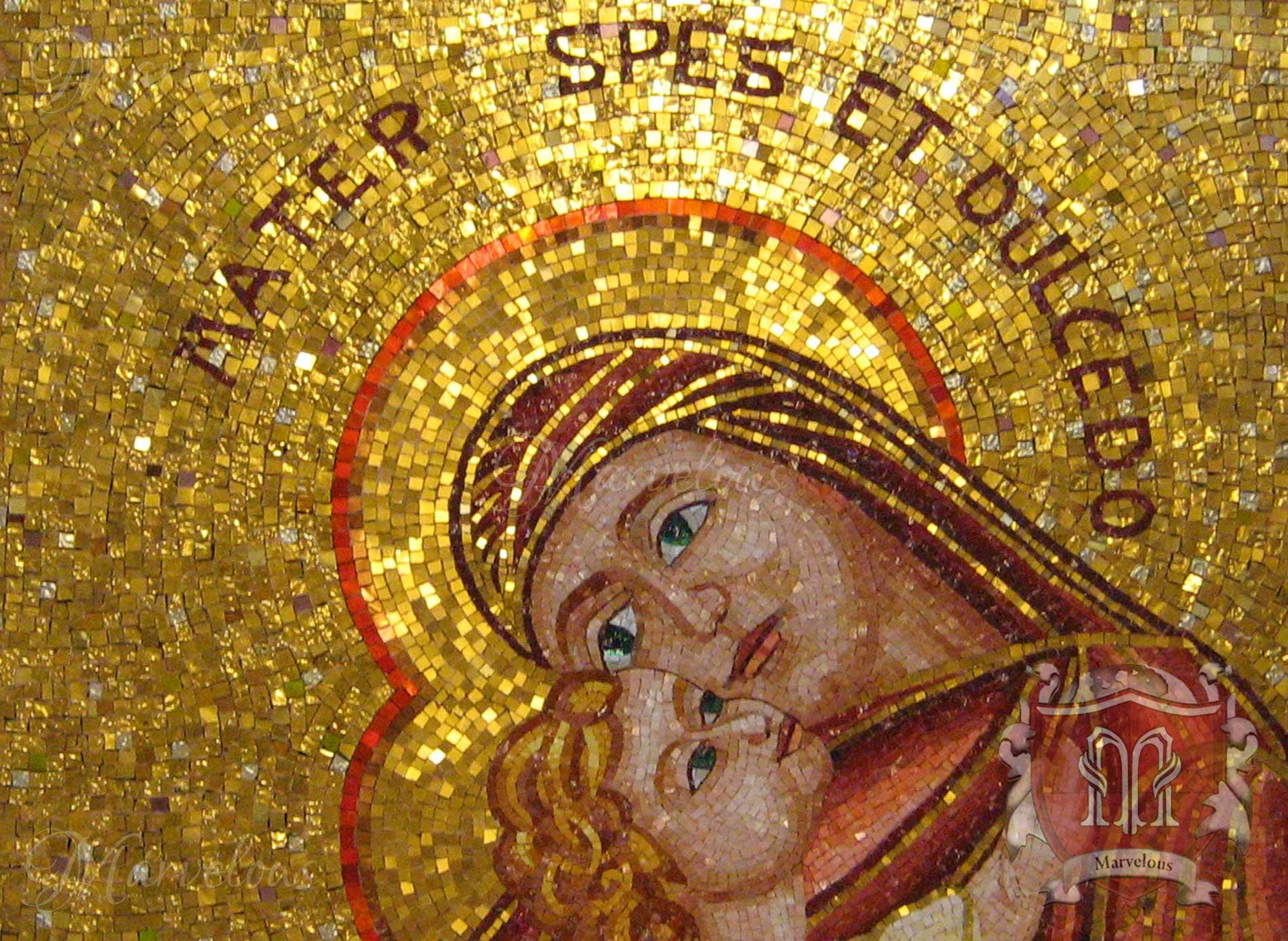 Marble Religious Mosaic: Speranza